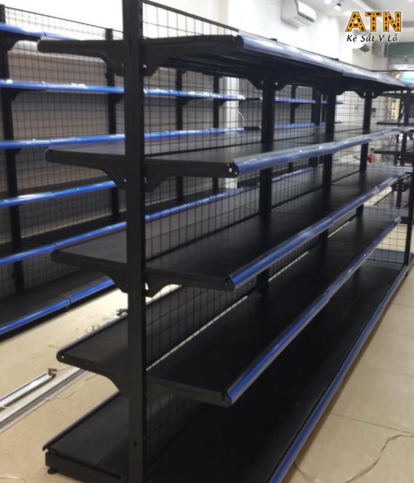 Địa chỉ cung cấp kệ siêu thị màu đen ATN01 chất lượng, giá rẻ nhất TPHCM